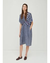 Zucca | Cupro Gingham Check Dress | Lyst