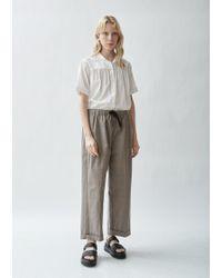Chimala - Plaid Cotton Wide Leg Trousers - Lyst