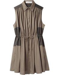 Thakoon Addition - Drawstring Shirt Dress - Lyst