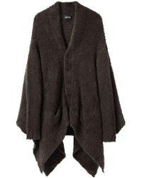 Zucca - Knit Coat W/ Asymmetrical Hem - Lyst