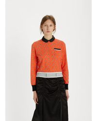 Undercover - Trumpet Printed Contrast Trim Top - Lyst