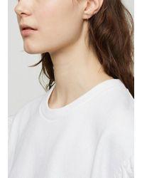 Julien David - White Diamond Loop Earrings - Lyst