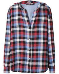 Les Prairies de Paris - Hooded Plaid Shirt - Lyst