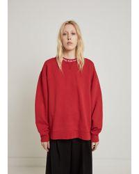 Acne Studios - Yana Ribbed Oversized Sweatshirt - Lyst