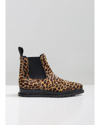 Sacai - Leopard Chelsea Boots - Lyst