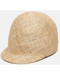 Sacai - Straw Toque Hat - Lyst