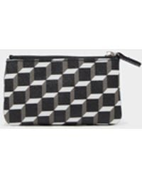 Pierre Hardy | Small Canvas Cube Zip Pouch | Lyst