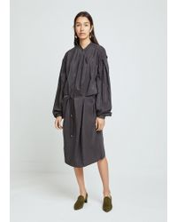 Lemaire - Large Sleeve Dry Silk Dress - Lyst