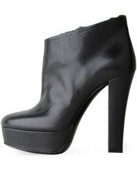 Viktor & Rolf - Fur Lined Ankle Boot Heel - Lyst