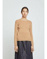 Marni - Cashmere Contrast Stitch Sweater - Lyst