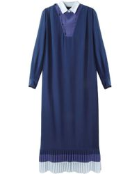 Boy by Band of Outsiders - Tri-color Silk Dress - Rtv - Lyst
