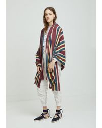 Isabel Marant - Dayna Striped Cotton Scarf - Lyst