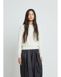 Comme des Garçons - Carded Lambswool Crewneck Pullover - Lyst
