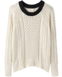 Band of Outsiders - Cable Knit Raglan - Lyst