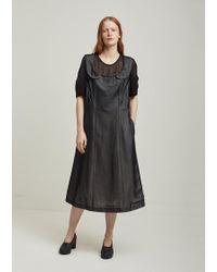 Comme des Garçons - Cupra Chiffon Cotton Cloth Dress - Lyst
