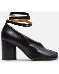 Maison Margiela - Tabi Heels With Ankle Straps - Lyst