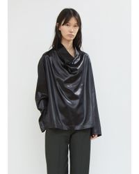 Lemaire - Satin Cowl Neck Top - Lyst