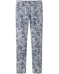 Girl by Band of Outsiders - Printed Denim Pant - Lyst