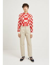 JW Anderson - Leather Pocket Classic Jeans - Lyst