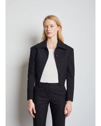 Proenza Schouler - Cropped Stretch Cotton Jacket - Lyst