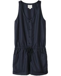 Girl by Band of Outsiders - Tank Top Romper - Lyst
