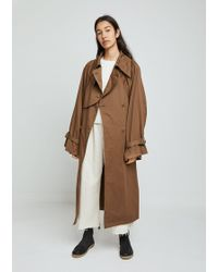 MM6 by Maison Martin Margiela - Garment Dyed Trench Coat - Lyst