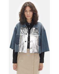 Lutz Huelle - Vintage Denim Cropped Jacket - Lyst