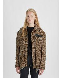 R13 - Shredded Leopard Abu Jacket - Lyst