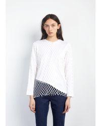 Marques'Almeida - Jersey Net Long Sleeve Top - Lyst