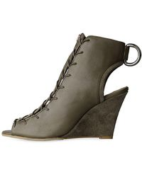 Acne | Fusion Leather Wedge | Lyst
