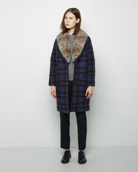 Band of Outsiders - Blanket Wool Shawl Collar Coat - Lyst