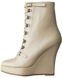 Opening Ceremony - Laced Wedge Boot - Lyst