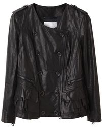 3.1 Phillip Lim - Ruffled Leather Jacket - Lyst