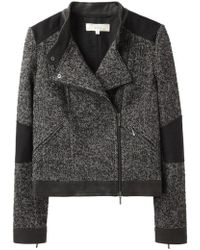 Vanessa Bruno Athé - Tweed Moto Jacket - Lyst