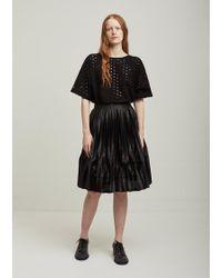 Junya Watanabe - Polyester Film Pleated Skirt - Lyst