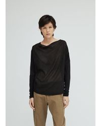 Pas De Calais - Boat Neck Draped Cotton Top - Lyst