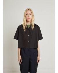 Acne Studios - Lelia Cotton Poplin Crop Shirt - Lyst