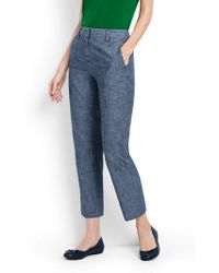 Lands' End - Chambray Crop Trous - Lyst
