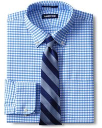 Lands' End - Patterned Traditional Fit Easy-iron Button-down Supima Oxford Shirt - Lyst