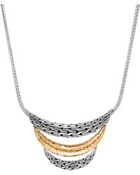 John Hardy - 'classic Chain' Silver Yellow Gold Arch Bib Necklace - Lyst