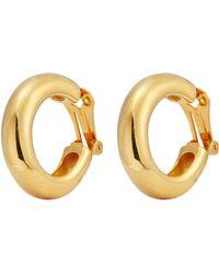 Kenneth Jay Lane - Tube Hoop Clip Earrings - Lyst