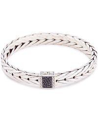 John Hardy - Sapphire Silver Weave Effect Link Chain Bracelet - Lyst