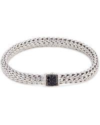 John Hardy - Sapphire Silver Woven Chain Bracelet - Lyst