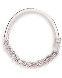 W. Britt - 'thin And Thick Link Lock' Cut-out Bar Bracelet - Lyst