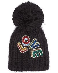 b87778184ae8f Gucci Pompom Ribbed-knit Beanie Hat in Black for Men - Lyst