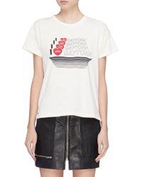 Rag & Bone - 'daytona' Slogan Graphic Print Slub Jersey T-shirt - Lyst