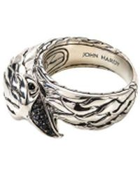 John Hardy - Sapphire Chalcedony Silver Eagle Ring - Lyst