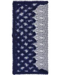 Franco Ferrari - Needle Punch Diamond Lace Scarf - Lyst