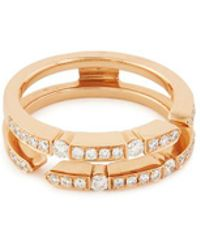 LC COLLECTION - Diamond 18k Rose Gold Eternity Ring - Lyst