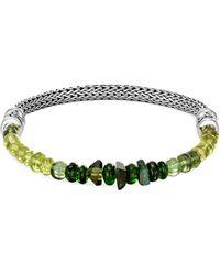 John Hardy - 'classic Chain' Gemstone Extra Small Silver Bracelet - Lyst